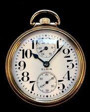 Elgin 16s Veritas 23 Jewel Wind Indicator Railroad Pocket watch  Extra Fine+