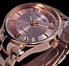 Excellanc Damenuhr Armbanduhr Uhr Rosegold Farben Metall R-20