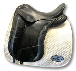 "Used Schleese Link - Size: 2-17"" Dressage Saddle Black"