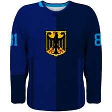 2017 Germany Team Europe Hockey World Cup Fan Jersey Blue NHL DRAISAITL EHRHOFF
