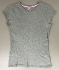 Womens Ellemenno Gray Short Sleeve Shirt Size Small Top