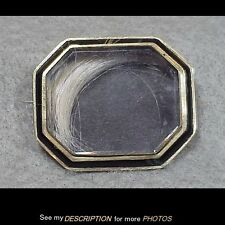 Antique 10K Gold Mourning Locket / Brooch Black Border Blonde Hair