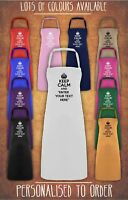 Keep Calm and Your text Here Personalised  Baking Cooking Chef  Apron Gift