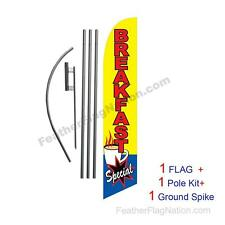 Breakfast Special Feather Banner Swooper Flag Kit with pole+spike