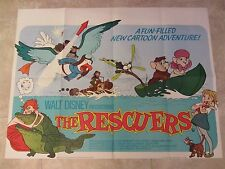 The Rescuers movie poster - Walt Disney original UK quad