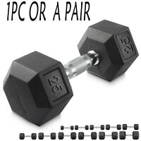 US CAP Barbell Coated Hex Dumbbell pair single 10lb 15lb 20lb 30lb 40lb 50LB