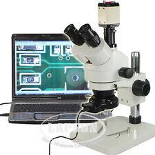 7X-45X Trinocular Industry Stereo Microscope Set + 200X USB VGA C-mount Camera