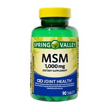 Spring Valley MSM Tablets, 1000 mg, 90 Count