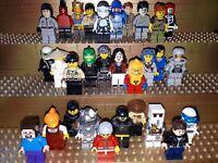 30 Lego City Figuren mit Kopfbedeckung. Minifig, Town, Polizei, Arbeiter, C3