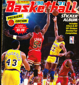 SEALED 1990-91 PANINI BASKETBALL STICKER ALBUM W STICKERS MICHAEL JORDAN