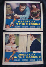 GREAT DAY IN THE MORNING Lobby card set ROBERT STACK VIRGINIA MAYO 1965