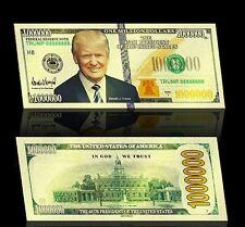 President Donald Trump .999 24k USA Gold Plated Million Dollar Bill / Banknote