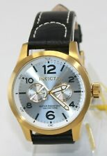 Invicta Men's Specialty Watch Quartz Silver, Gold Stainless Calf Leather 12172