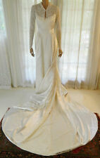 Vintage 1950's Satin and Lace Wedding Dress