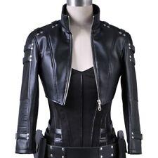 For Women & Girls 100% Real Lambskin Leather Cropped Bolero Shrug Gothic Jackets