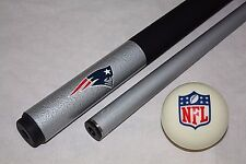 NFL New England Patriots Football Billiard Pool Cue Stick & NFL Logo Cue Ball