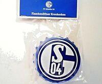 FC Schalke 04 Fanartikel Flaschenöffner als Kronkorken 8cm Öffner blau weiß neu