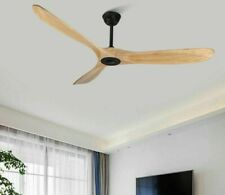 Solid Wooden Ceiling Fan With Reversal Function 28CM Height Pained Iron Body New
