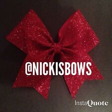 Red Sparkly Cheer Bow