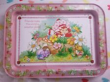 Vintage Strawberry Shortcake Metal Tin TV Tray
