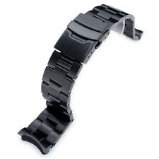 22mm Super Oyster watch band for Diver SKX007/009/011, PVD Black Solid SS