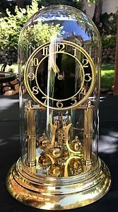 Vintage Kern 400-day Brass Anniversary Clock