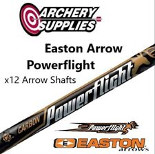 "Easton Carbon Powerflight x12 Arrows 31"" - 340 Spine (Shafts Unfletched)"
