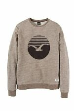 Cleptomanicx Vintage Print Crewneck Sweater brown NEU Gr.XL portofrei