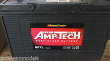 12v SUPER CHARGE  AMP TECH  DEEP CYCLE BATTERY  120 amp hour D87 CAMPING 4X4 NEW