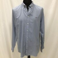 Tommy Hilfiger Size XL Mens Blue Polka Dot Regular Fit Long Sleeved Shirt Mens