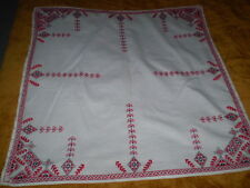 Vintage Tablecloth Hand-Embroidered 100% Cotton White