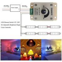 12V 24V LED Strip Lights Dimmer Switch Voltage Regulator Adjustable P6Q2