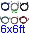 LOT OF 6 X Braided USB Charger Cable Apple  iPhone7 5/6/6s//8/iPad Mini