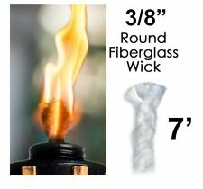 15PCS ZYP Fiberglass Replacement Wicks-9.85 Inch Long Life Torch Replacement Wick Oil Lamps Wicks for Indoor Outdoor Lighting Decor