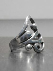 Thick Sterling Silver High Quality Stamped .925 Size 9 Swirl Fashion Cute Ring