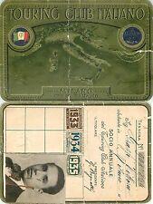 Tessera Touring Club Italiano (TCI) - Milano, 1933/34/35