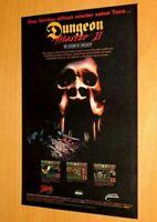 Dungeon Master II The Legend of Skullkeep Amiga PC Vintage Promo Poster / Ad Art