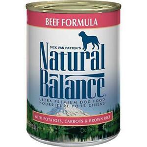 Natural Balance Ultra Premium Wet Dog Food, Beef Formula with Potatoes, Carrots