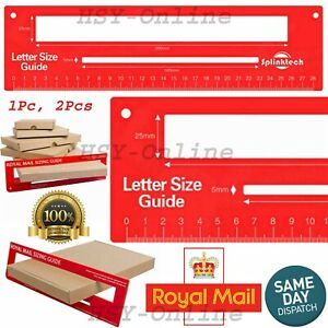 Red Royal Mail PIP PPI Postal Template Letter Size Charge Guide Postage Ruler