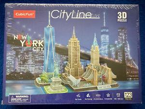 CubicFun CityLine 3D Puzzle City Line New York City Building Model NEW & Sealed