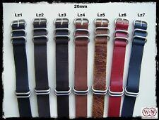 Cinturini NATO ZULU pelle misure: 18-20-22-24. Leather Zulu Straps. ENTRATE!!!