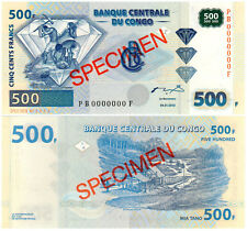 Congo Democratic Republic 500 Francs P#96s (2002) SPECIMEN Mint UNC
