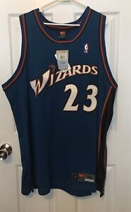 BNWT MICHAEL JORDAN WASHINGTON WIZARDS NIKE AUTHENTIC JERSEY SIZE 52 2XL XI XVII