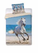 Cavallo Bianco lenzuola Set Letto,COPRIPIUMINO 160x200 singolo 100% COTONE