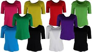 M&S Marks and Spencer Ladies Half Sleeve Cotton T-Shirt / Top, Sizes 10 - 24