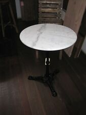 REDUCED IDEAL SIZE Round White Marble Top Table 60cm wide- DELIVERED EAST COAST*