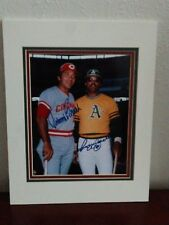 REGGIE JACKSON & JOHNNY BENCH SIGNED & MATTED COLOR PHOTO