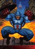CAPTAIN AMERICA / Spider-Man Fleer Ultra 1995 BASE Trading Card #112