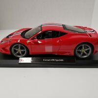 Maisto Ferrari 458 Speciale Red 1:18 Special Edition Diecast Car.
