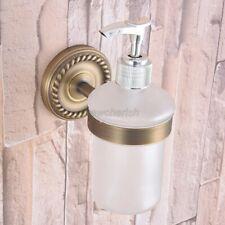 Antique Single Soap Dispenser Holder Brass Wall Mount Bathroom Accessories